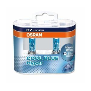 Obrázek Žárovka OSRAM H7 12V 55W COOL BLUE HYPER box 2ks